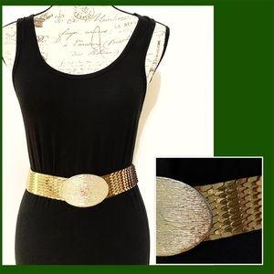 Accessories - Stunning Gold Metallic Belt